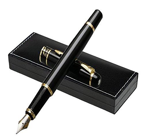 Luxus Füllfederhalter mit Geschenketui von [Schwarz] | Füllfederhalter-Set für Führungskräfte | Klassischer Füllfederhalter | Business-Geschenk | Kalligraphie