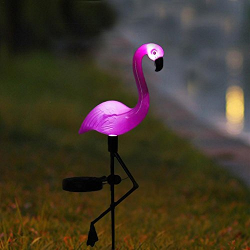 Starter Solarflamingo-Lichter, Wasserdichtes Licht Im Freien Von Der Solarbetriebenen Erdstange Von LED Flamingo-Stange Pole, Vervollkommnen Für Garten-Rasen-Dekoration