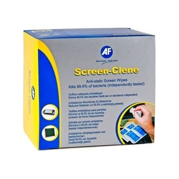 AF Screen-Clene Wipes Sachets Non-smearing Non-flammable - Ref SCS100 (Pack 100)