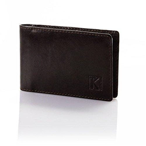 TK 1979 Cadeau utile - Porte-cartes cuir véritable TK189 Marron choco - Marron, Cuir