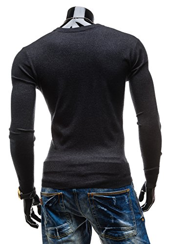 BOLF Herrenpullover Pulli Sweatshirt Sweatjacke Sweater V-Neck NEW MEN 8001 Anthrazit