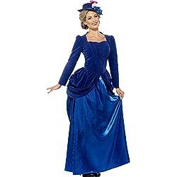 Smiffy's Traje de lujo de estilo victoriano Vixen, color azul (43420M)