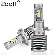 Zdatt 14600LM H7 LED Headlight Bulb - 100W - 6000K - Plug and Play