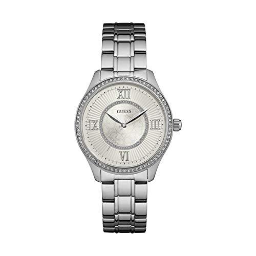 GUESS Reloj Analógico para Mujer de Cuarzo con Correa en Acero Inoxidable W0825L1