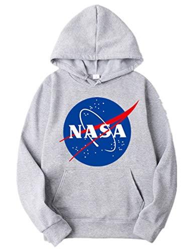 Basic Damen-pullover (ZBSPORT Unisex NASA Basic Kapuzenpullover Sweatjacke Pullover Hoodie Sweatshirt XS-2XL)