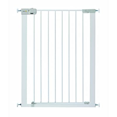 Safety 1st Simply Close Extra Tall Safety Metal Gate, Ideal for Kids and Pets, 73 to 80 cm, White  BabyDan