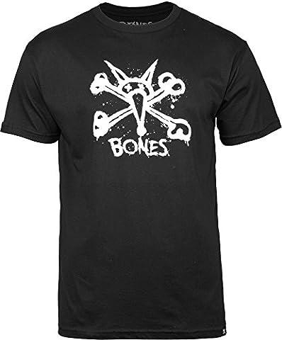 Bones Wheels Central T-Shirt, Black, Large