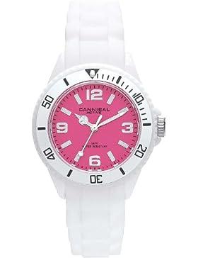 Cannibal Unisex-Armbanduhr Analog Silikon weiß CK215-01E