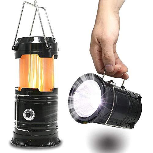 cht, Camp-Laterne Handheld-Taschenlampe Tragbare Zusammenklappbare LED-Leuchten Glühbirnen Lampe Kompakte Geschenke Für Den Notfall, Überleben, Hurrikan, Stromausfall ()