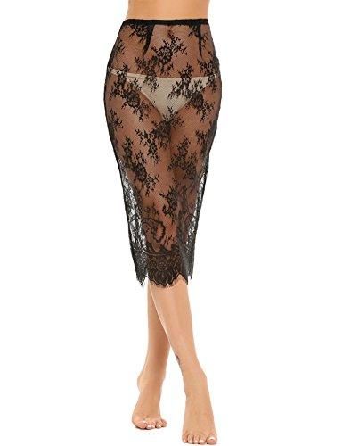 ADOME-Women-Lingerie-Dress-Transparent-Lace-Floral-Sexy-Button-Lingerie-Pajamas-Skirt