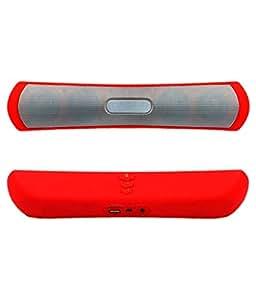 Mobilefit Wireless Bluetooth Speaker (BE-13)/Portable Audio Player Play FM Radio, audio Certified Wireless Bluetooth Speaker - (Red) Compatible for Lava ARC 11+