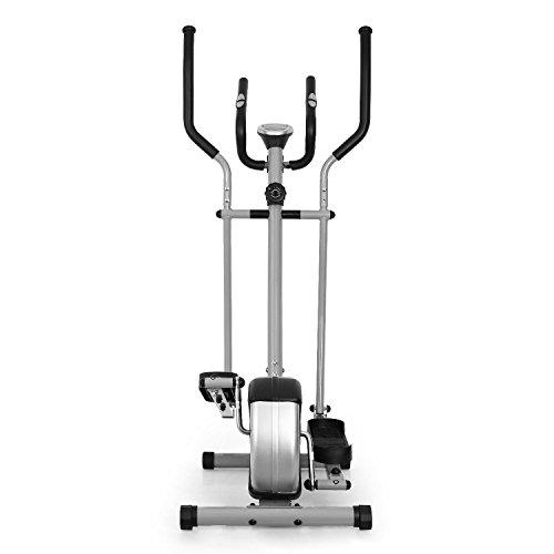 Klarfit ELLIFIT BASIC20 • Vélo elliptique • Ergomètre • Crosstrainer • Freinage Magnétique • Ordinateur • Mesure du pouls • Vélo Pliable • LCD • 8 paliers • Acier • Gris