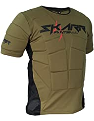 "skarr cuerpo de Airsoft y Paintball Armour Verde Oliva – Bajo Chaleco Acolchado Chaleco de rebote de cksn, color  - Olive Green/Black, tamaño Medium 38""-40"" Chest"