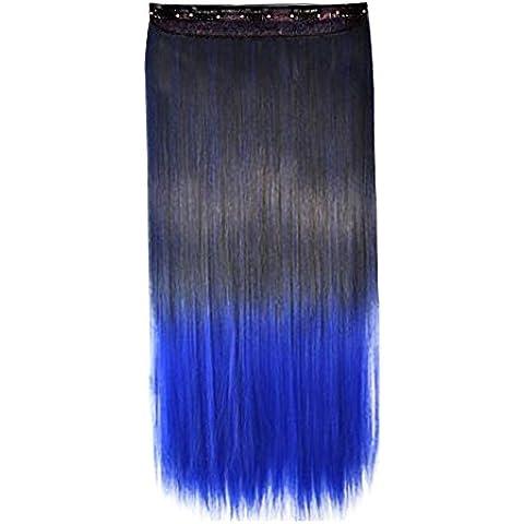 Contever® Directamente Extensiones de Clip de Pelo Natural Pelucas Cabello del Salón de Belleza del Cabello para Mujer de La Moda 60 CM Longitud - Estio
