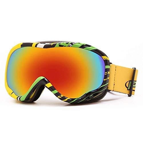 JBP Max Skibrille Sportbrille Brille Doppel-Anti-Fog-Skibrille Winddicht Polarisierte Linse Entspiegelt-JBP8,C