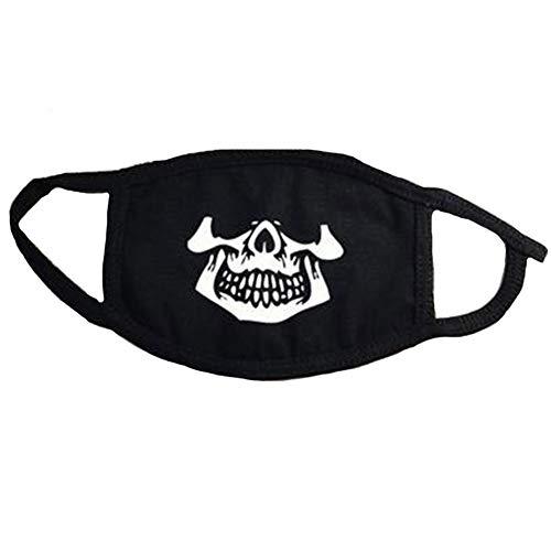 Baumwolle Mund-Maske, Schwarz Unisex Anti-Staub-Halbe Gesichtsmaske, Außen Halloween Karneval Partyangebot Für Männer Frauen (Einkaufen Halloween Für)