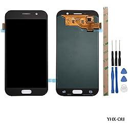 YHX-OU Ecran LCD de Remplacement Retina Display Complet pour Samsung Galaxy A5 A520 A520F 2017 avec Vitre Tactile Outils (Noir)