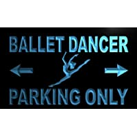 ADV PRO m160-b Ballet Dancer Parking Only Neon Light Sign