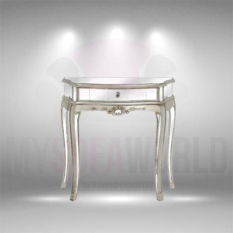 ARGENTE Attraktive wunderschön Design Silber One Schubladen verspiegelt Half Moon Konsole -