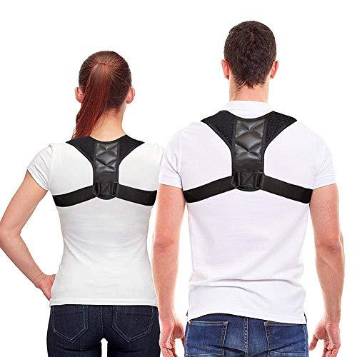 Ophion Neopren-Haltungskorrektur, verstellbare Schulter-Wirbelsäulenstütze, Nacken- und Schulterschmerzen und Haltungstrainer für Männer und Frauen