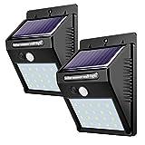 Solar Leuchte,Weyty 20 LED Solarlampe mit Bewegungsmelder,Kabelloses Energiesparende Wasserdichte Solarleuchten,Außen Solar Betriebene Außenleuchte, für Garten, Wände, Auffahrt, Hof 2Pack