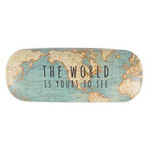 Vintage Map The World Is Yours Hard Glasses Case