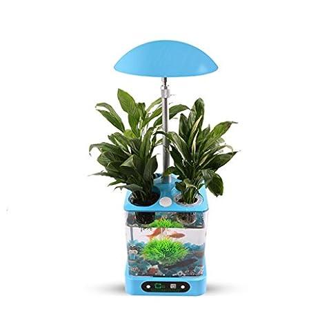Multifonctionnel la croissance des plantes d'aquarium automatique intelligent cadeau flowerpot aménagement paysager de choix 20w de puissance Taille Diamètre 25cm , days blue