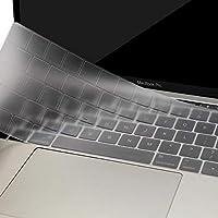MOSISO Cubierta del Teclado para 2018 2017 2016 MacBook Pro 13 y 15 con Touch Bar A1989 / A1706 / A1990 / A1707 Ultra Uelgado Protectora con Teclas de Función (EU Layout sin Alfabeto Impreso), Claro