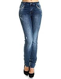 Damen Übergrößen Jeans Hose High Waist 21463