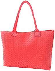 Y-BOA 1Pc Sac A Epaule Tricot PU Femme Taille 42*28*10cm