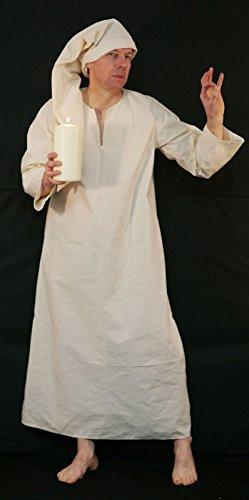 CL COSTUMES Bühne-Panto-Dickens-A Weihnachten Carol-Dagobert-Wee Willie Winkie Nachthemd / Nachthemd & Mütze Unisex Maskenkostüm - Alle Größen - Wie abgebildet, Men: ()