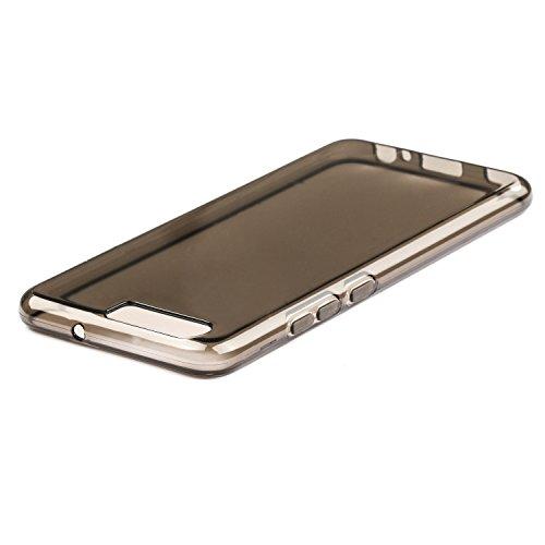 Coque Huawei P10 - Ultra Mince Protection en TPU Silicone Housse Etui Coque Pour Huawei P10 - Transparent Noir + Transparent + Transparent Noir