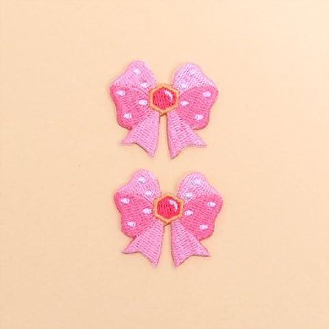 COLORIDO remiendo del bordado de hierro explorar en dos tonos rosado de la cinta (juego de dos) N6626700