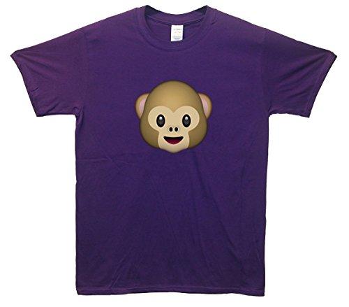 Monkey Emoji T-Shirt Lila