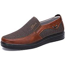 506bd99cf Zapatos Hombre Cuero Mocasines Casual Zapatillas Casa para Centavo Ponerse  Conducción Formal Negocios Barco Cómodos Caminar