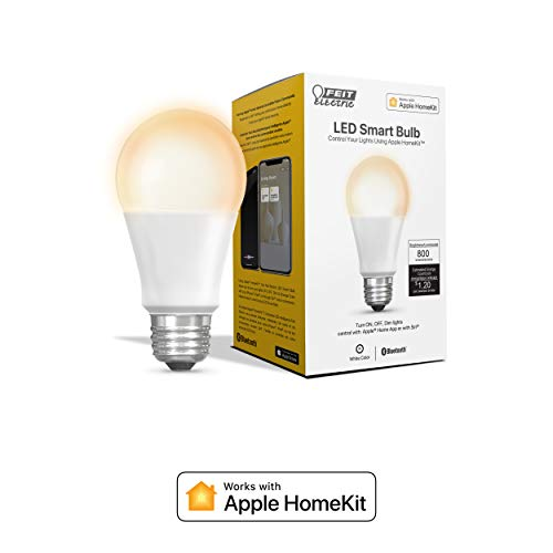 Feit Elektrische Smart LED-Leuchtmittel, 60 W, entspricht A19, kompatibel mit Apple HomeKit (OM60/SW/HK) 800 Ipod