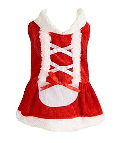 Petitebelle Pet Supply Christmas Costume Dress Santa Claus in Women Dog Dress (Lady Kleid Santa)