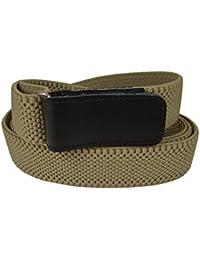 Olata Cinturón Elástico para Hombres 4cm con Hook y Loop Fijación, totalmente ajustable