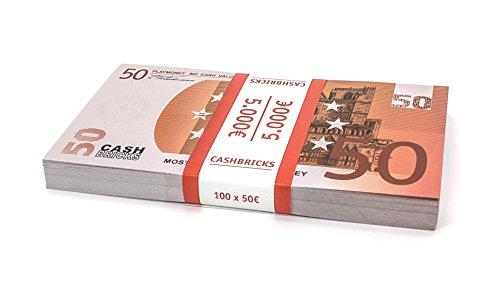100 x €50 EURO Spielgeld Scheine Cashbricks® im ()