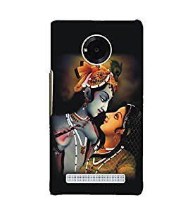 Fuson Premium Back Case Cover Lord RadhaKrishna With Multi Background Degined For YU Yuphoria::Micromax Yuphoria YU5010