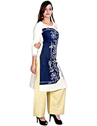 KNOTS & THREADS Women's Cotton Printed Straight Kurta/Kurti, Special For Summer Season And Comfortable