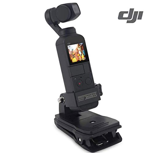 Osmo Pocket Backpack Mount Clip - Quick Clip for DJI Gimbal Stabilizer Action Camera Mounts Accessories for Osmo Pocket Camera Mounts Bracket Stand For Osmo Pocket Expansion Accessories,Black