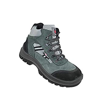 Aimont Palaos S1P SRC Safety Shoes Work Shoes Hiking Shoes high Green, Size:38 EU