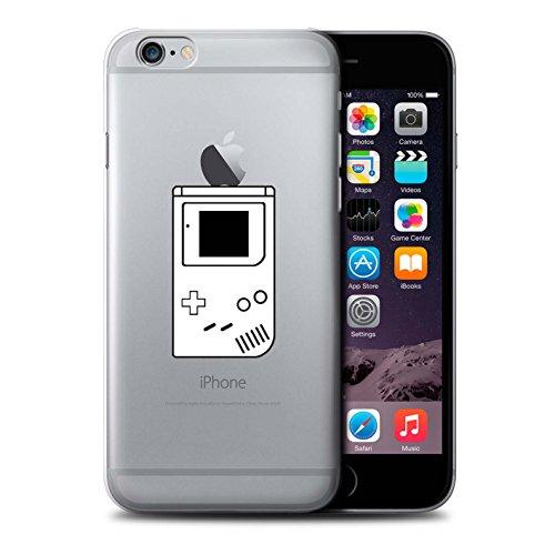 Stuff4 Hülle / Case für Apple iPhone 6 / Schwarz SNES Muster / Spielsteuerung Kollektion Weiß Gameboy