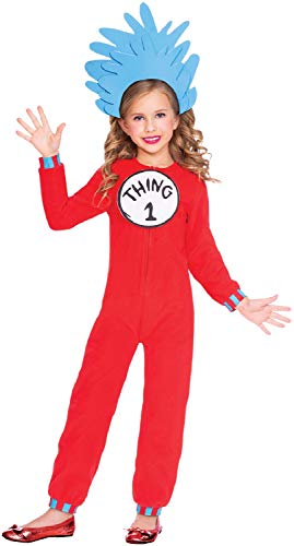 chen Thing 1 oder 2 Dr. Seuss Cat In The Hat World Book Day Week TV Film Crazy Karneval Kostüm Outfit ()