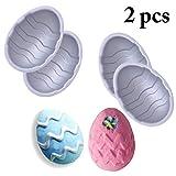 JUSTDOLIFE 2 Set Muffa di Uovo di Pasqua Creativo Stampo da Forno Stampo di Cioccolato per Fai da Te