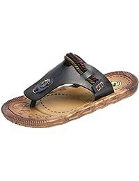 c3e577ad2 Boomboom Men Shoes Mens Leather Sandals Bottle Opener Flip Flops for Men  with Soft Cushion