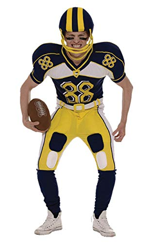 Adult Mens American Football Player Fancy Dress Costume inc Helmet and Ball Extra Large