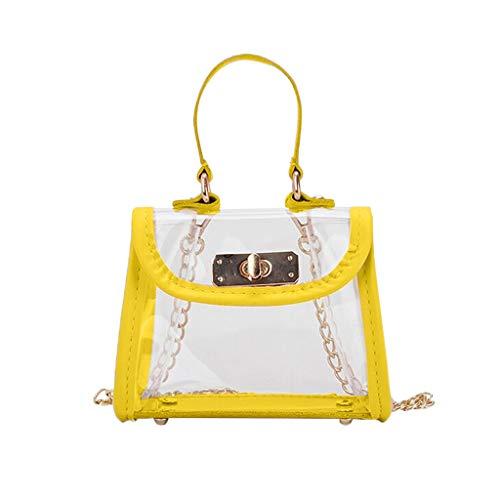Mitlfuny handbemalte Ledertasche, Schultertasche, Geschenk, Handgefertigte Tasche,Kinder Kontrast transparente Schulter Messenger Bag Coin Purse Pack für Kinder