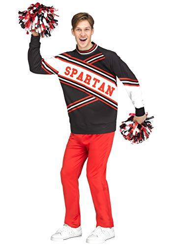 Kostüm Adult Spartan Deluxe - Saturday Night Live Adult Deluxe Spartan Cheerleader Fancy Dress Costume Medium